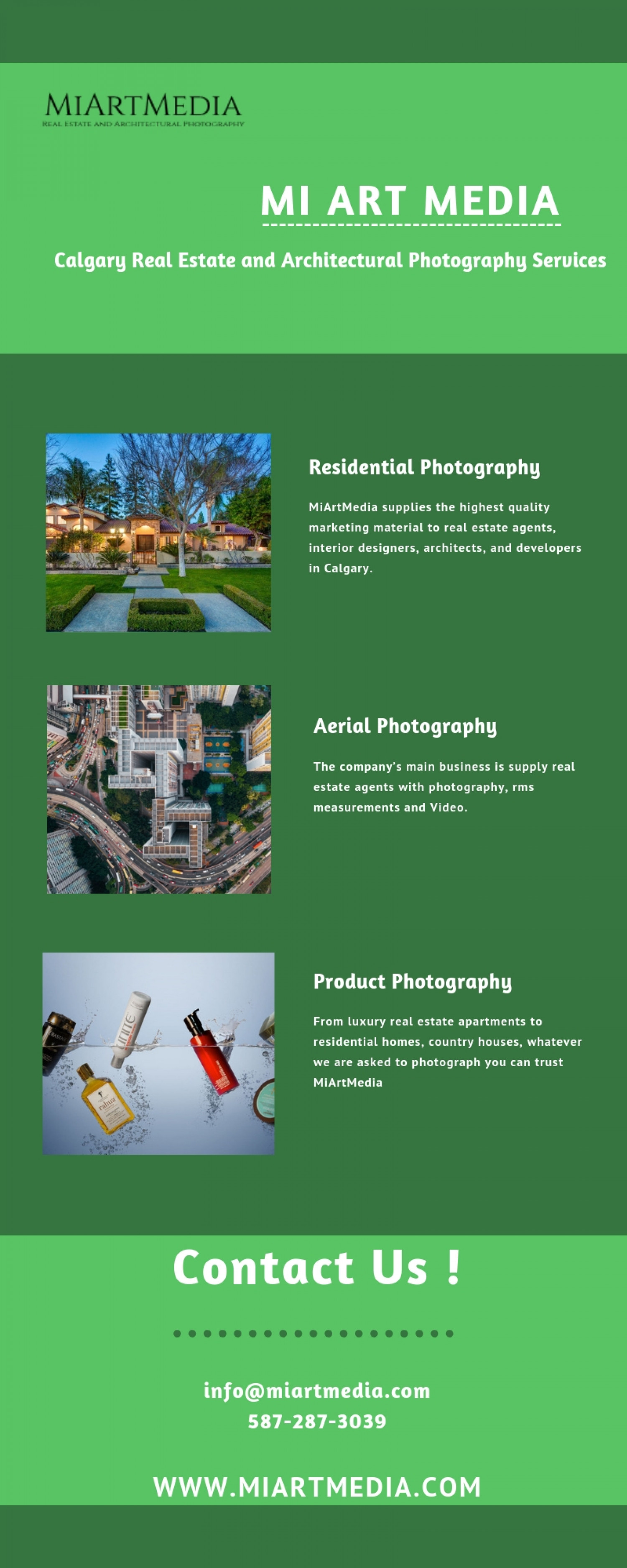 Get the Real Estate Photography Services by MI Art Media Infographic