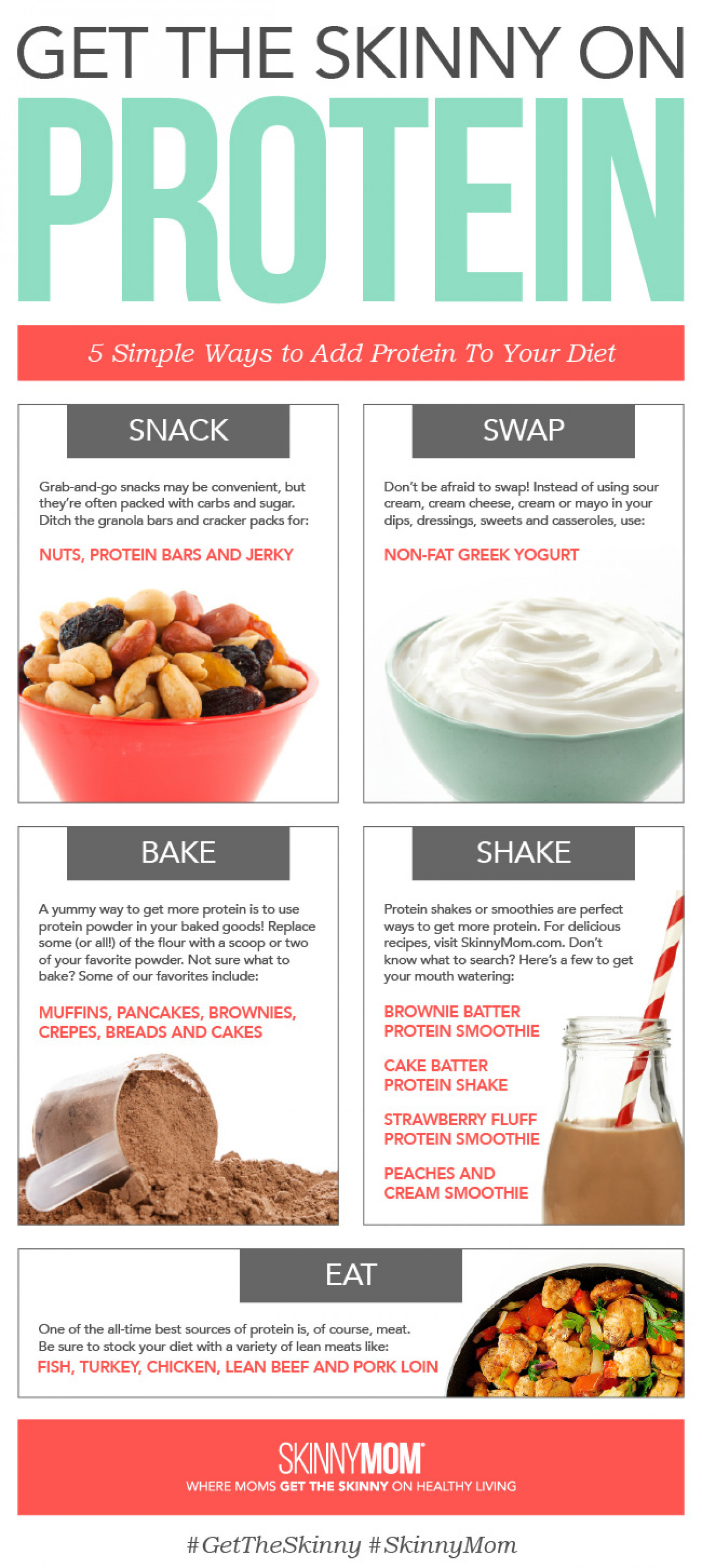 Get the SKINNY on Protein Infographic