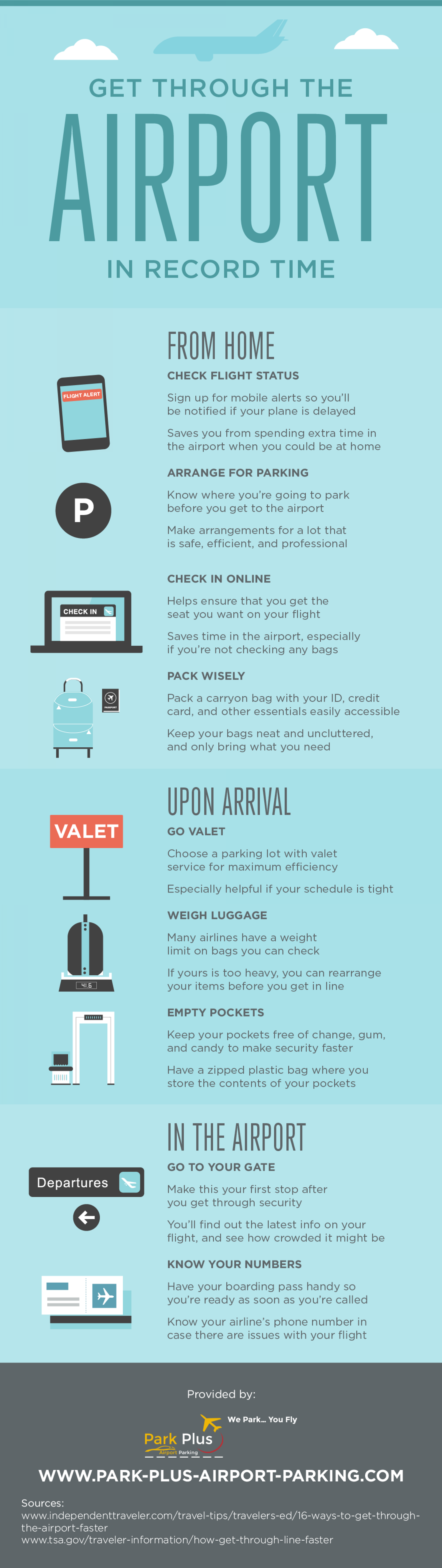 Get Through the Airport in Record Time Infographic