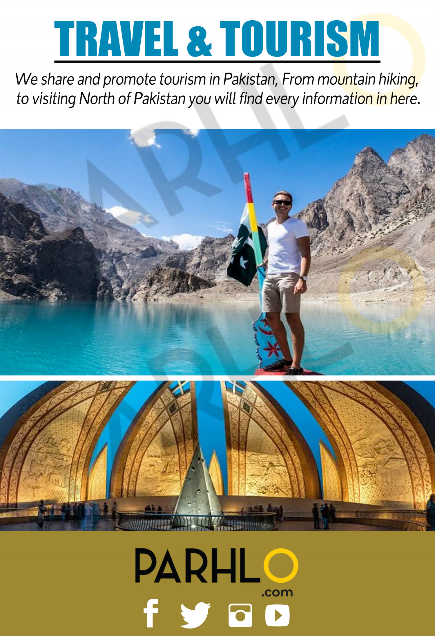Get To Know The Beautiful Pakistan - Parhlo.com Infographic