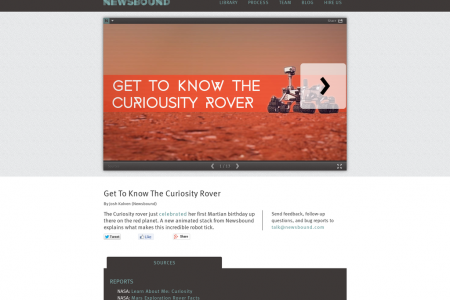 Get To Know The Mars Rover Infographic