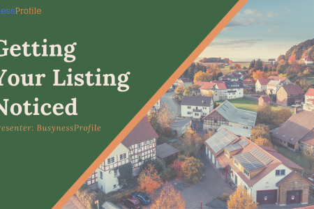 Getting Your Listing Noticed - BusynessProfile Infographic