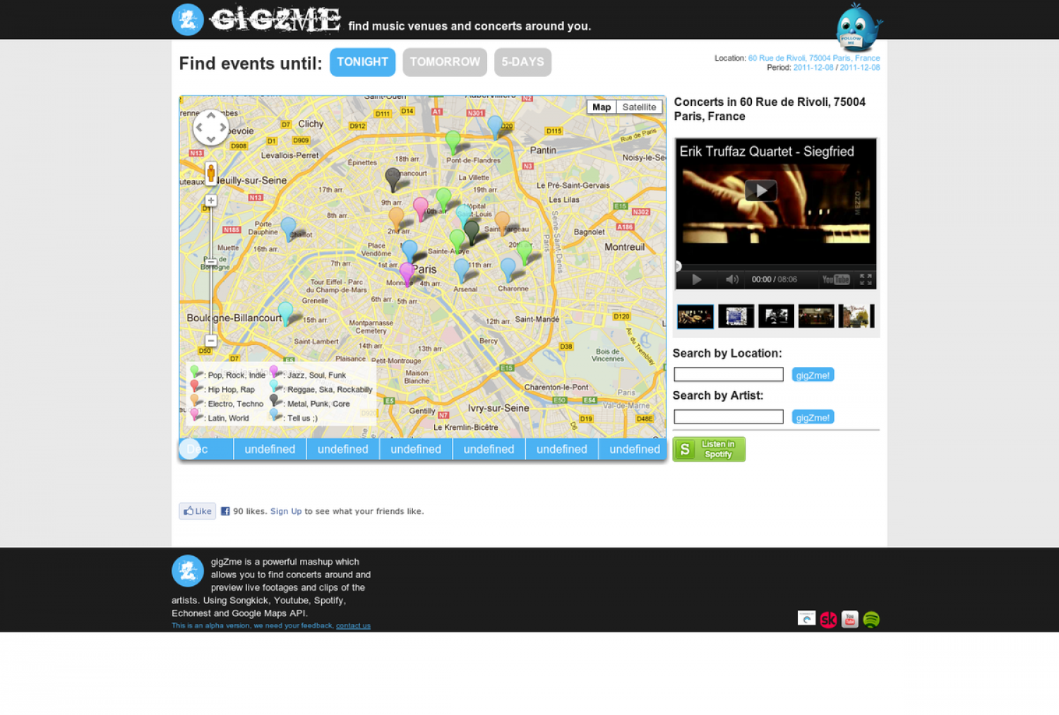 Gigzme - Find gigs around you Infographic