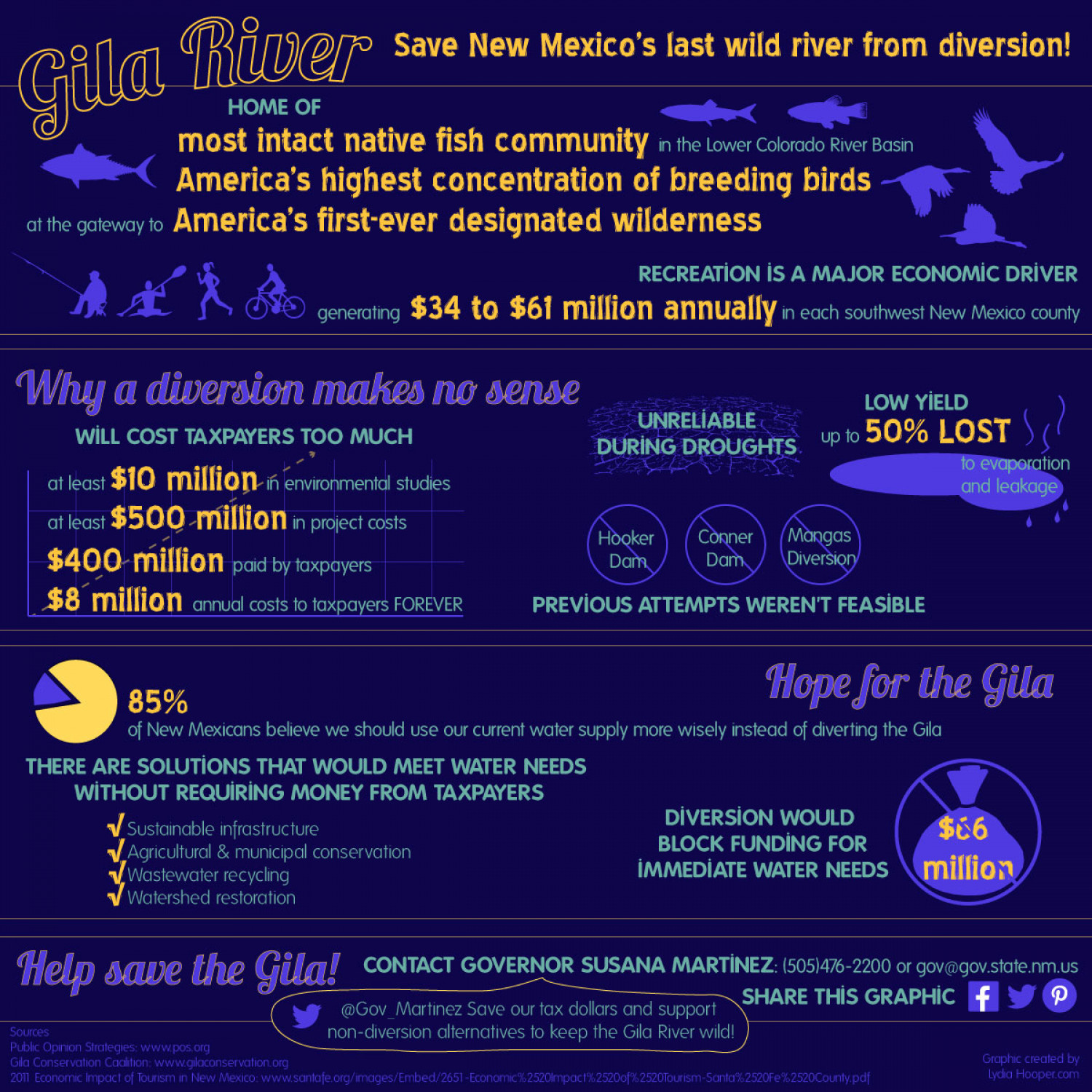 Gila River: Save New Mexico's last wild river from diversion Infographic