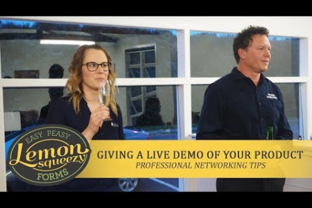 Giving A Live Demo Of Your Product | Professional Networking Tips Infographic
