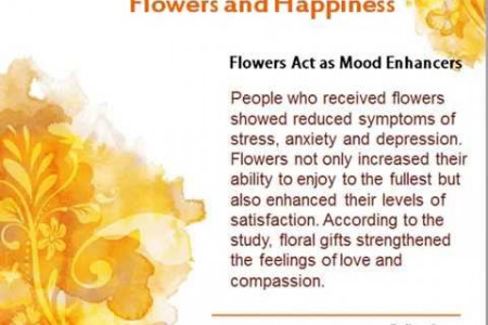 Giving Flowers can make people happy Infographic