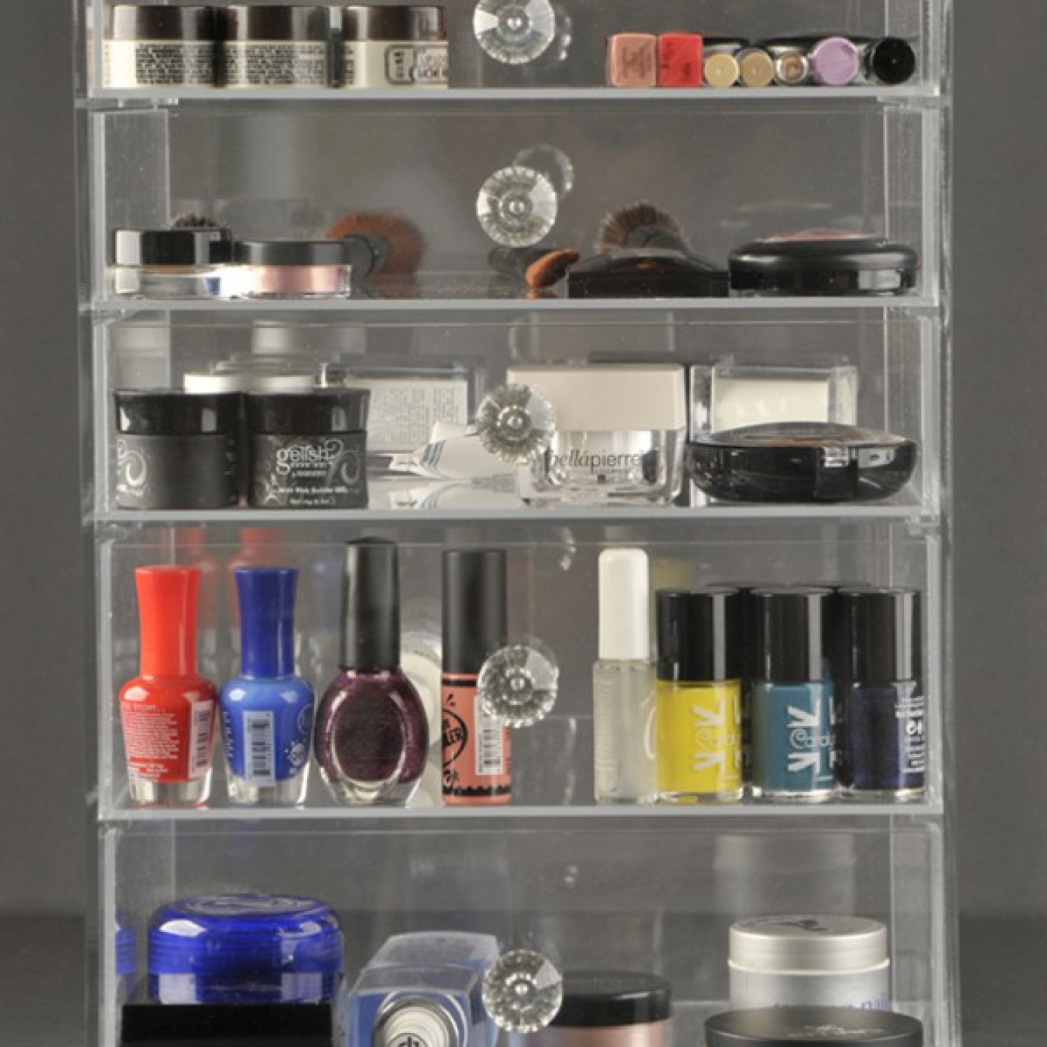 GlamoureBox Luxury Cosmetic Organizer and Makeup Storage (A5R-K) Infographic