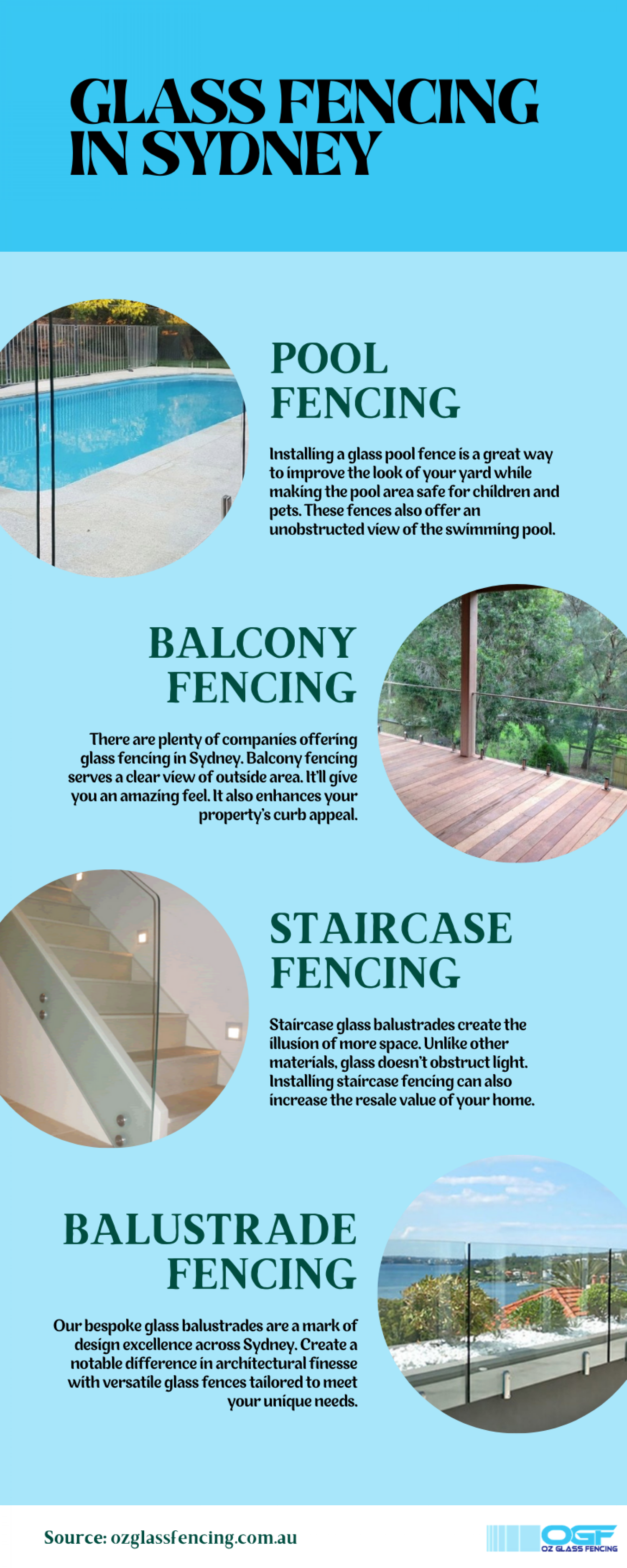 Glass Fencing Installation in Sydney Infographic