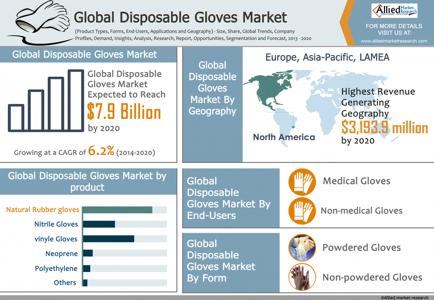 Global Disposable Gloves Market Infographic