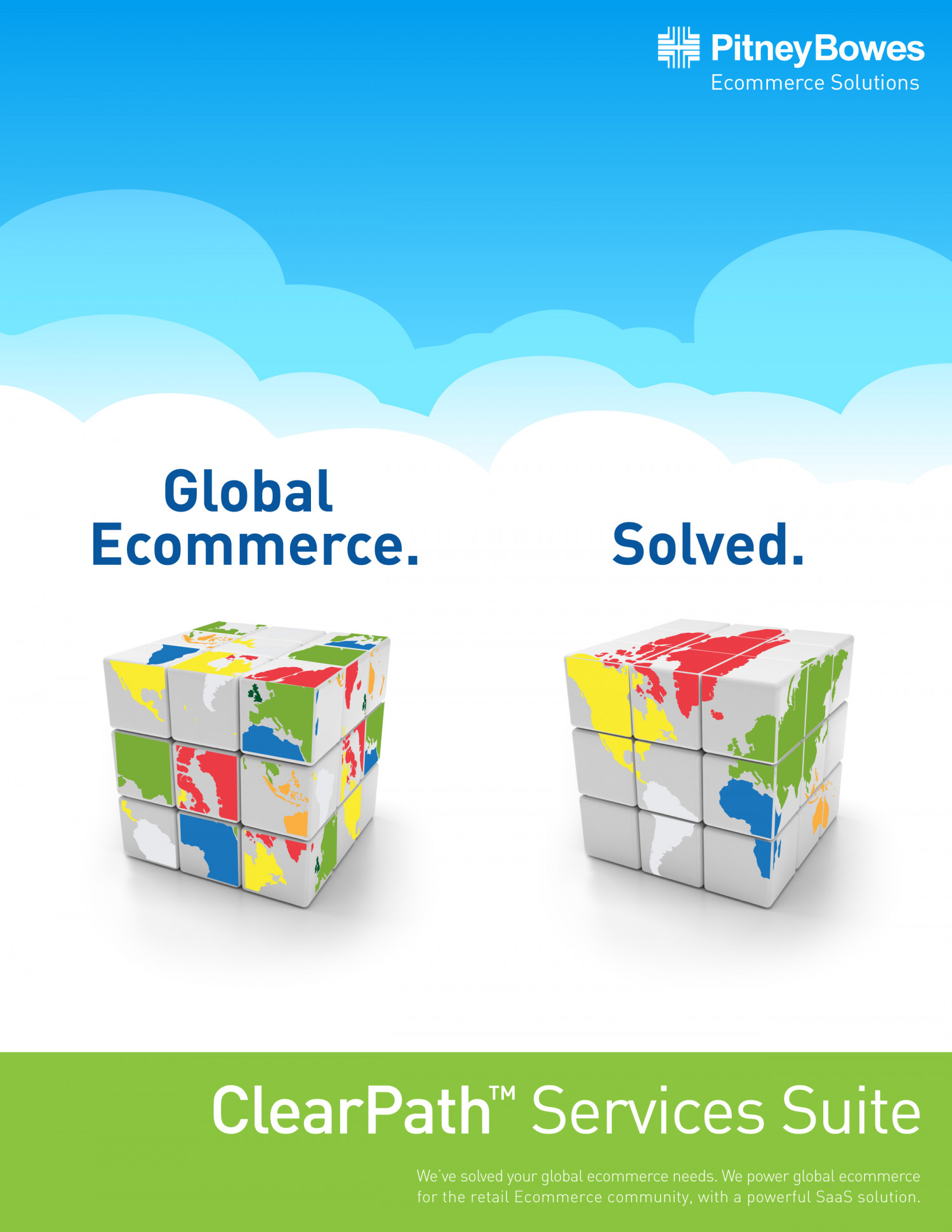 Global Ecommerce. Solved. Infographic