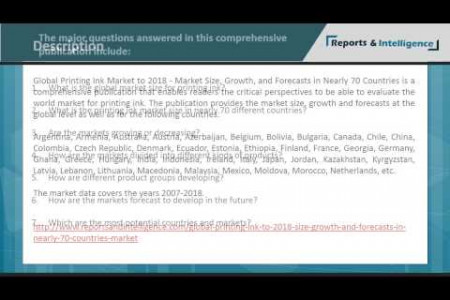 Global Printing Ink Market to 2018 - Market Size, Growth, and Forecasts in Nearly 70 Countries Infographic