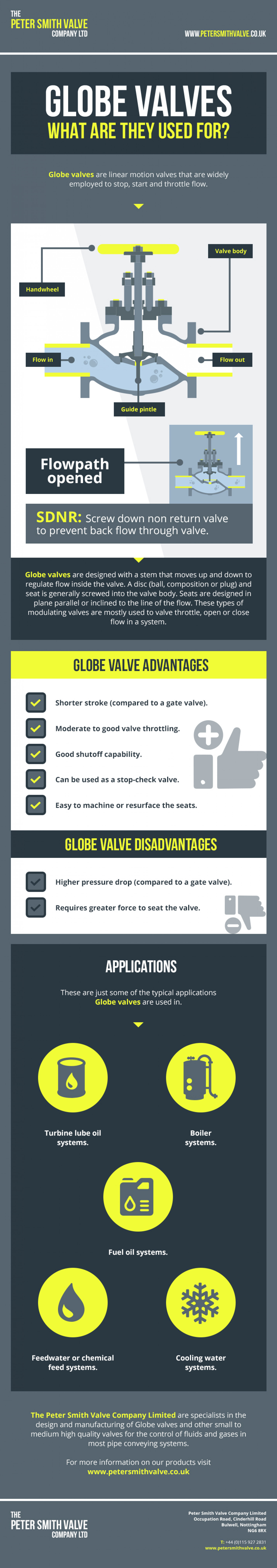 Globe Valves: What Are They Used For? Infographic