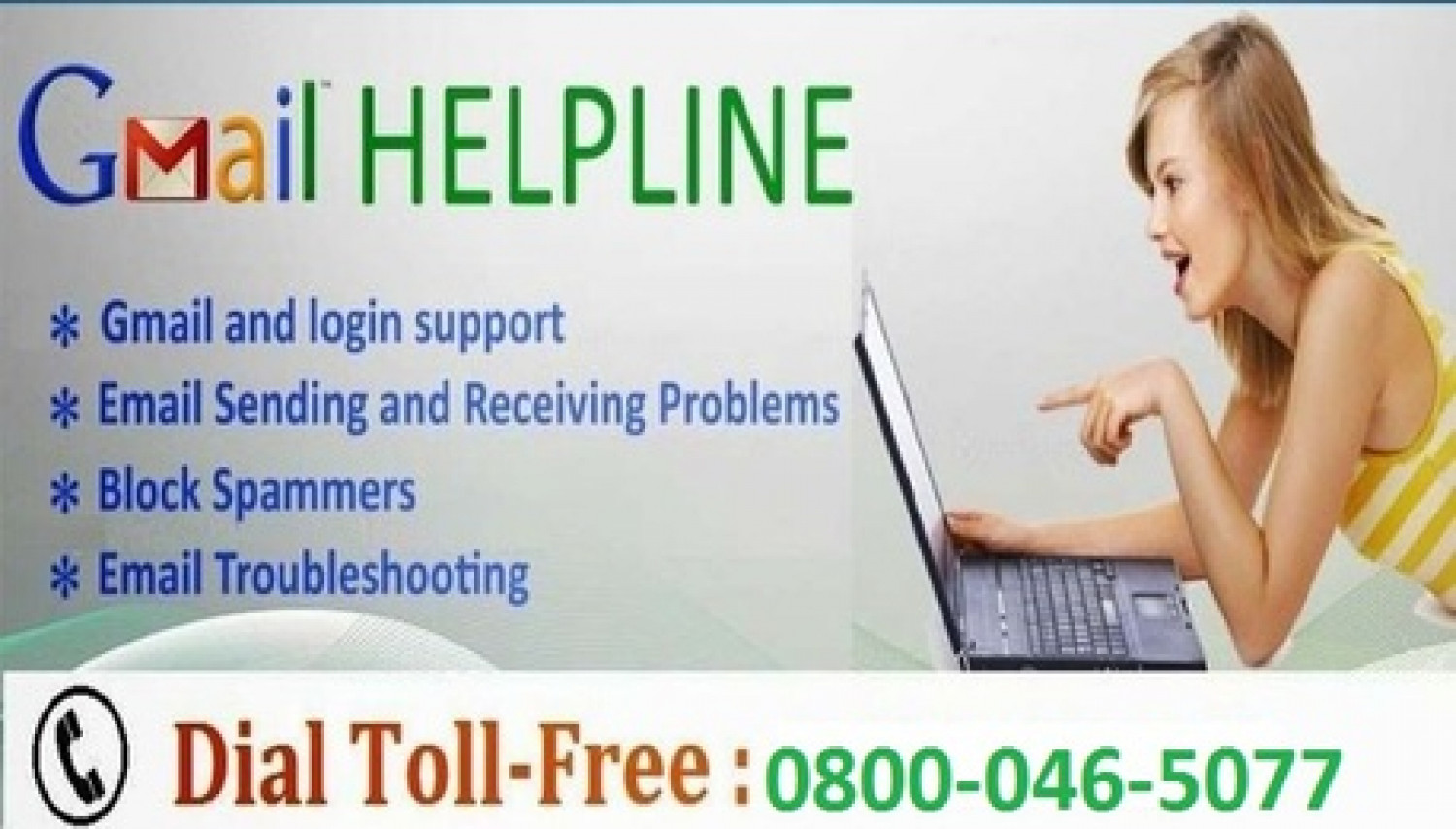 Gmail Support UK 0800-046-5077 Gmail Customer service Number UK Infographic