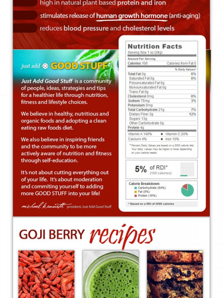Goji Berry Benefits Infographic