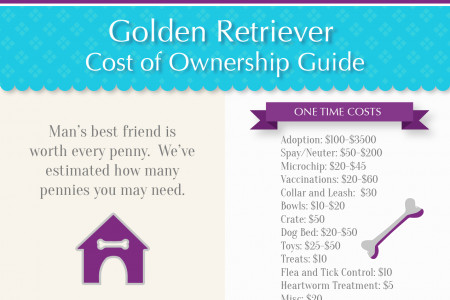 Golden Retriever Cost of Ownership Infographic