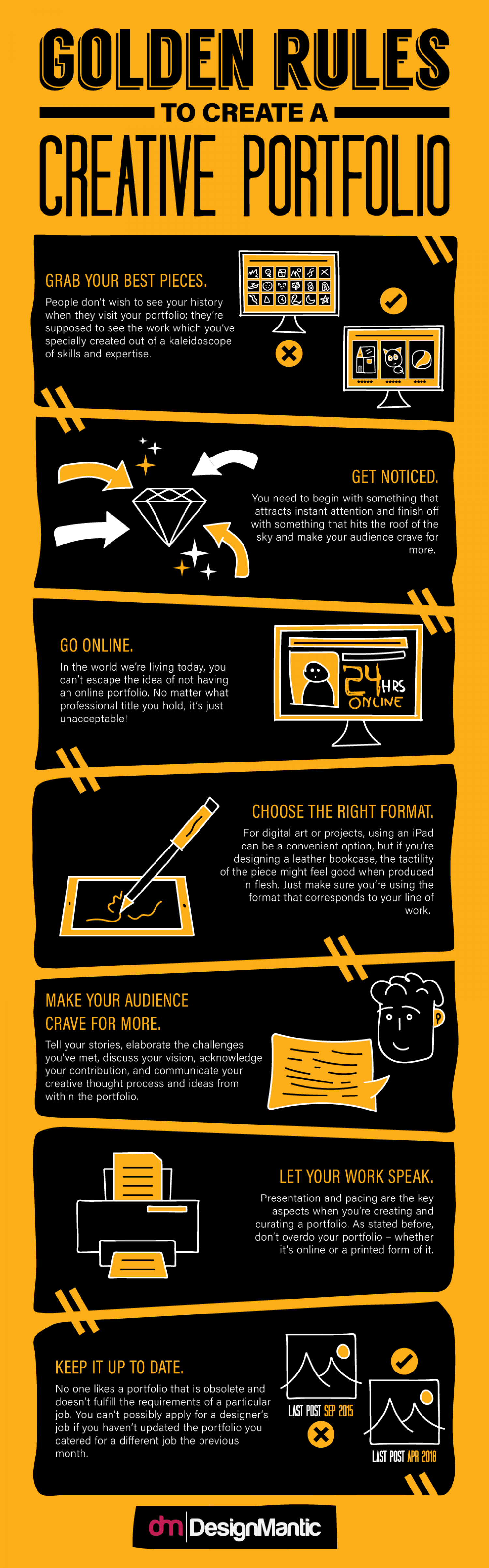 Golden Rules To Create A Creative Portfolio Infographic