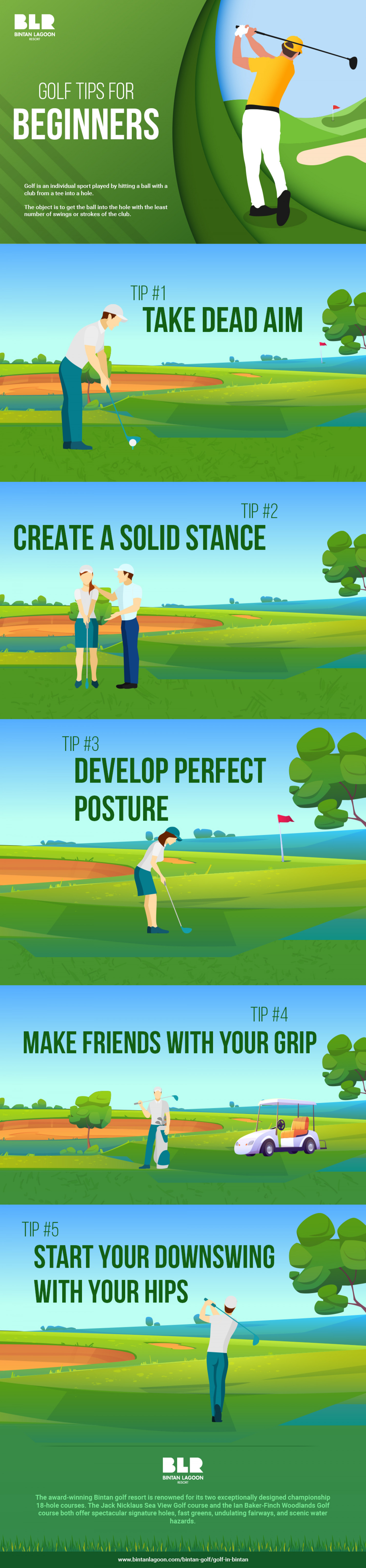 Golf Tips for Beginners Infographic