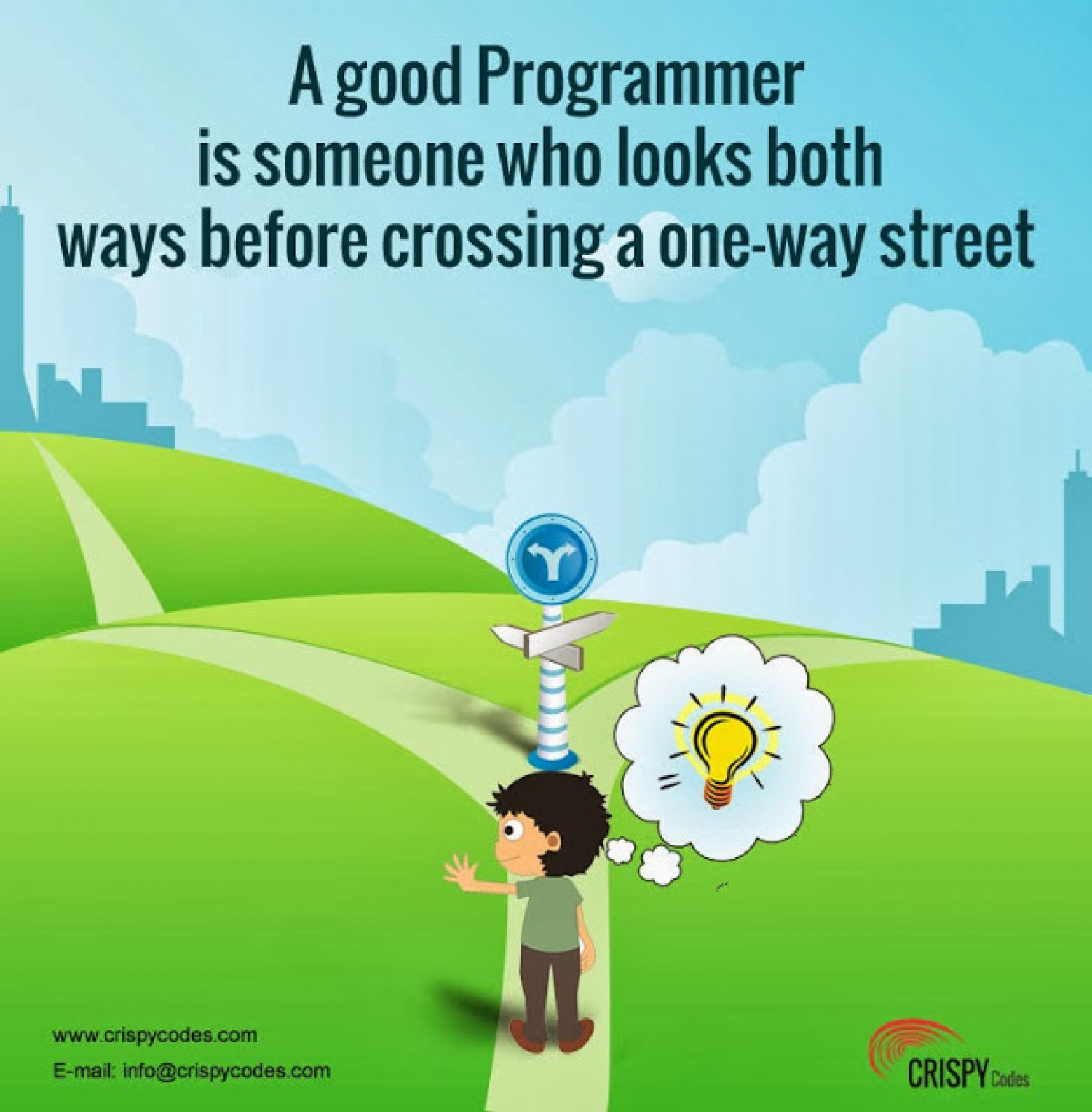 Good Programmer Who Looks on Both Side Infographic