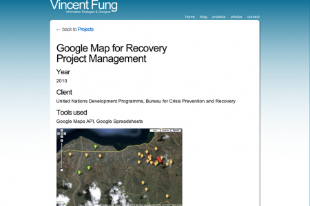 Google Map for Recovery Project Management Infographic