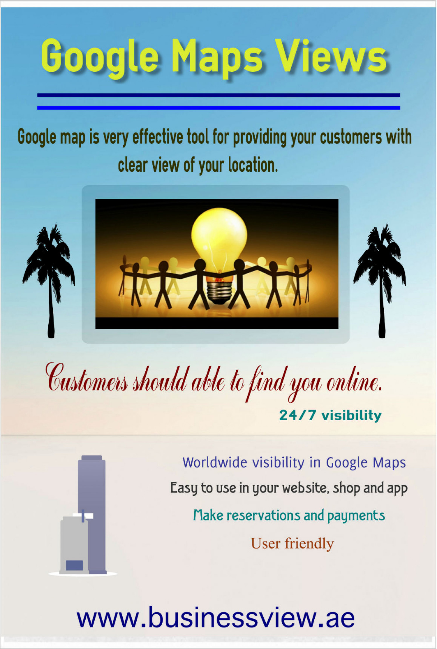 Google maps views Infographic