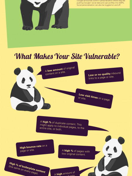 Google Panda in Plain English Infographic