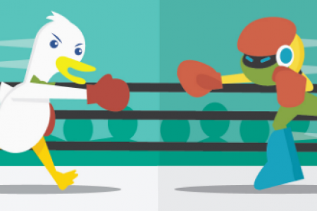Google vs DuckDuckGo - Private vs Personalized Search  Infographic