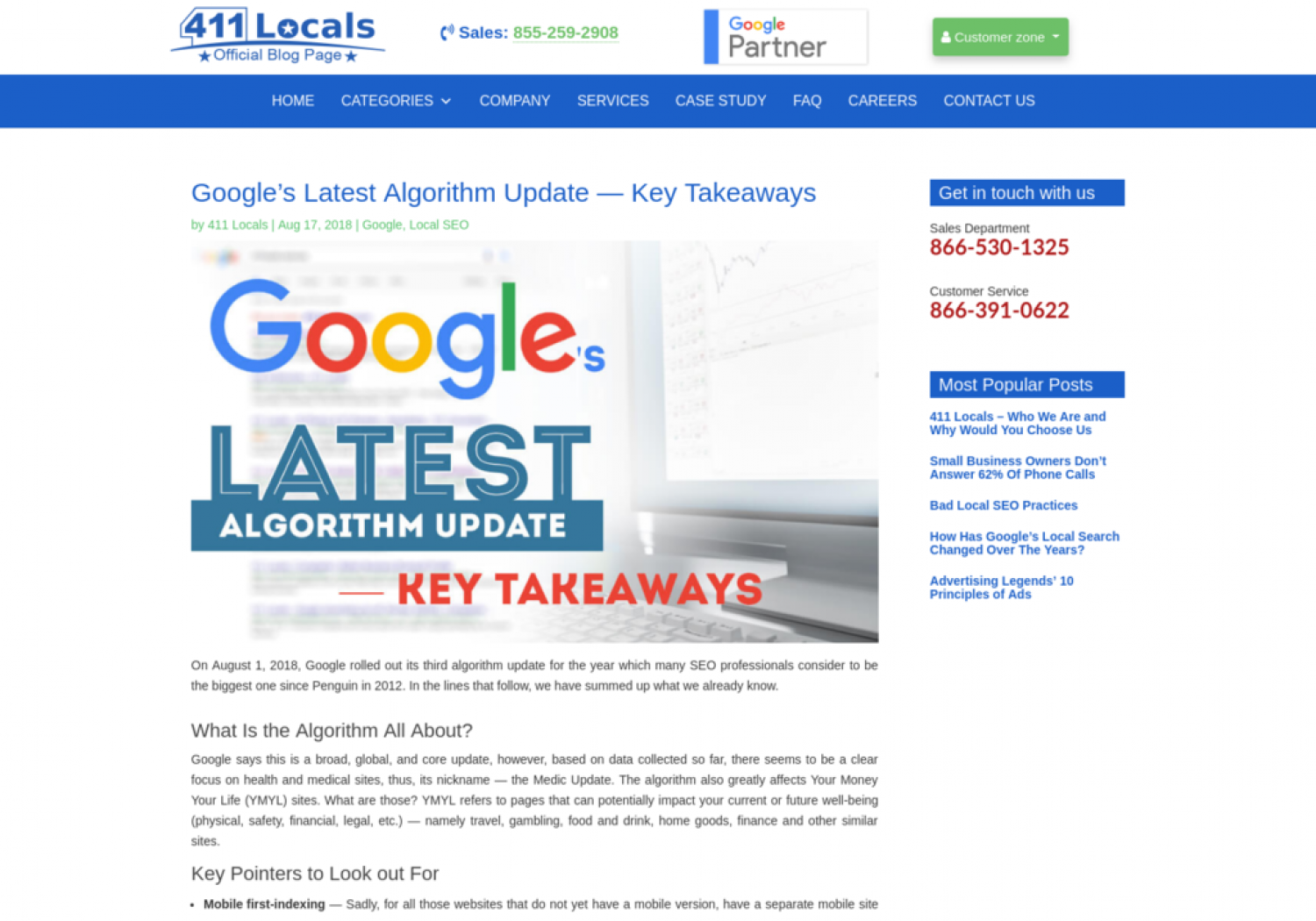 Google's Latest Algorithm Update — Key Takeaways Infographic