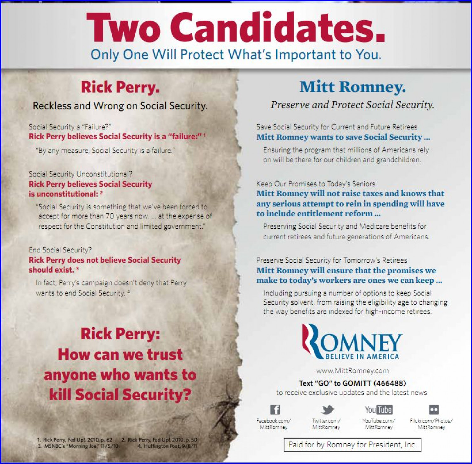 GOP Debate Pre-game: Will Romney & Bachmann Road Test DNC Talking Points? Infographic