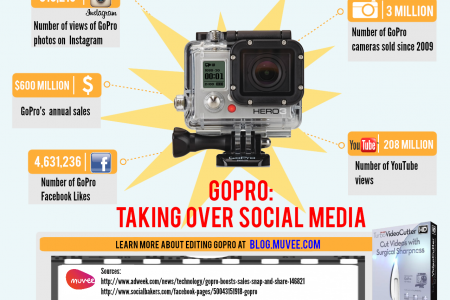 GoPro: Taking over social media Infographic