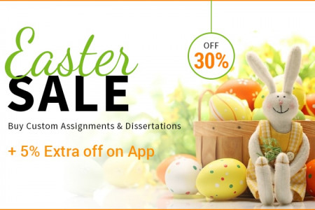 Grab Easter day Offer on Assignment Online Infographic
