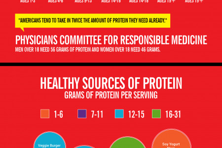Grams of Proteins needed per day Infographic
