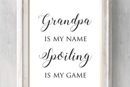 Grandpa Print. Grandpa is my name spoiling is my game. Can be customized. Christmas Gift. All Prints BUY 2 GET 1 FREE Infographic