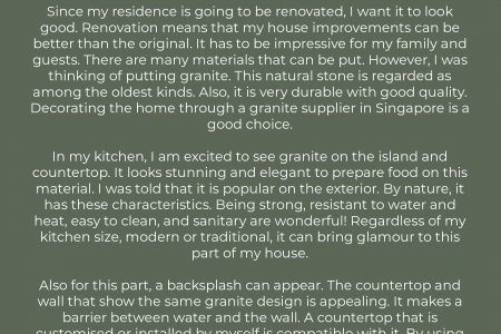 Granite Supplier in Singapore For My Residence Infographic