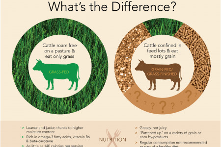 Grass-fed v. Grass-finished Infographic