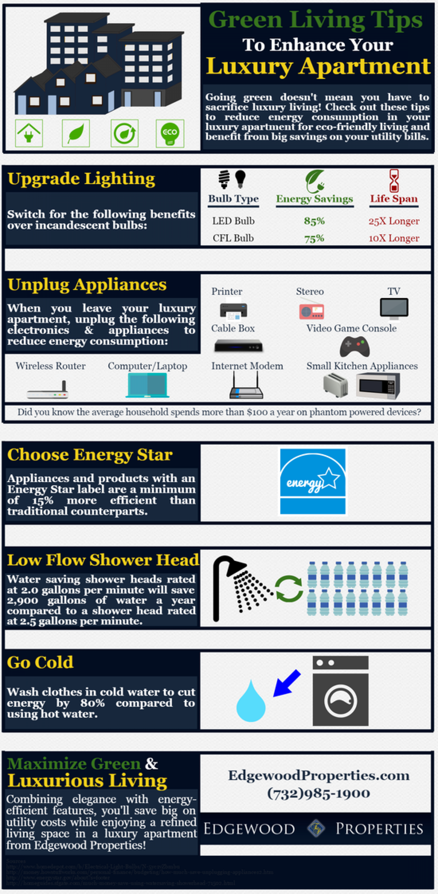 Green Living Tips To Enhance Your Luxury Apartment Infographic