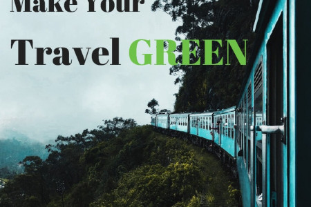 Green Travel Guide: 13 Ways to Travel Eco-friendly Infographic