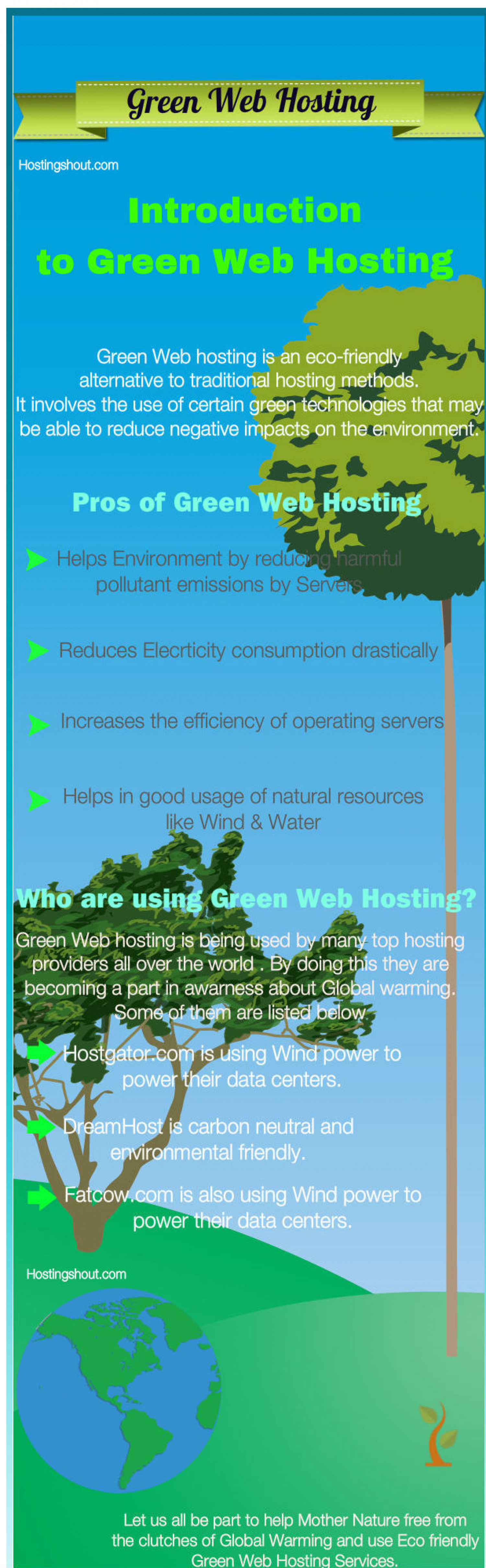 Green Web hosting Infographic