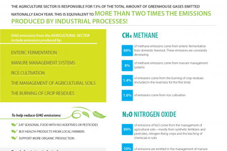 Greenhouse Gas Emissions in FYR Macedonia: Agriculture sector Infographic