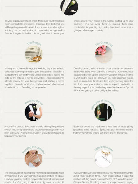 Groom's Guide To Wedding Planning Infographic