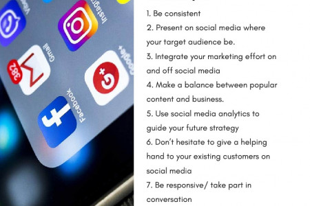 Grow Business With Social Media: The Principles Infographic