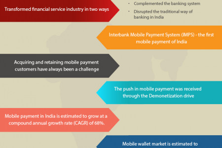 Growth of mobile money in India Infographic
