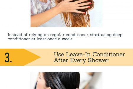 Guide for Caring your Hair After Bleaching Infographic