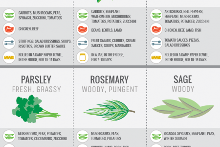Guide to Flavoring with Fresh Herbs Infographic