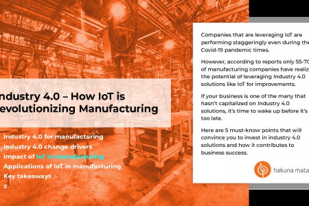Guide to IoT in Manufacturing – Growth, Benefits, Use Cases Infographic