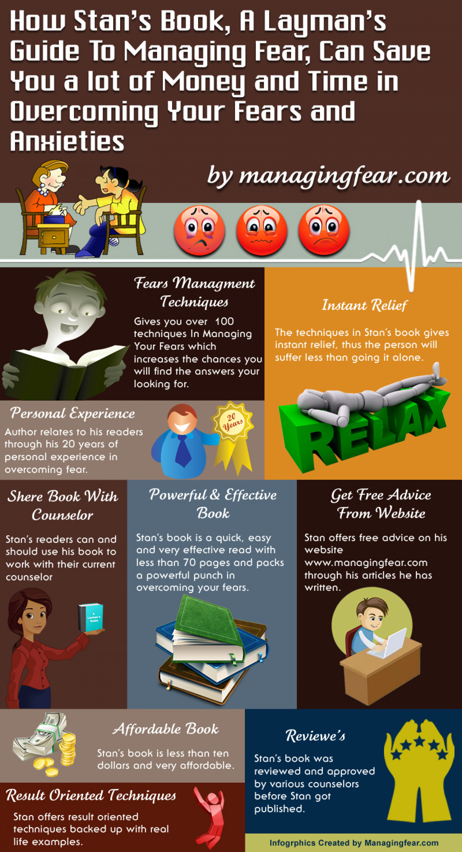 Guide to managing fear Infographic