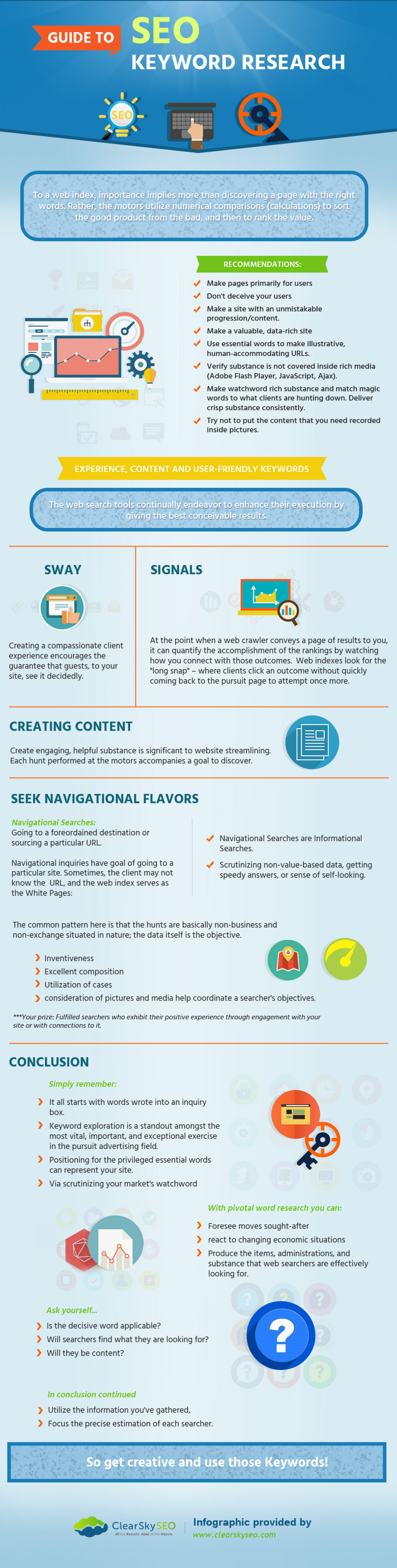 Guide to SEO Keyword Research  Infographic