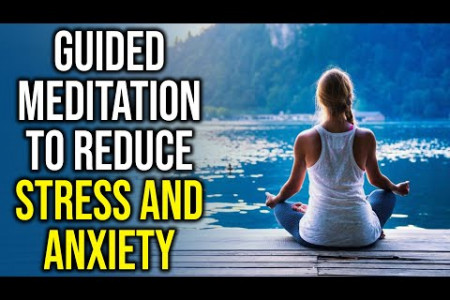 Guided Meditation to Reduce Stress and Anxiety Infographic