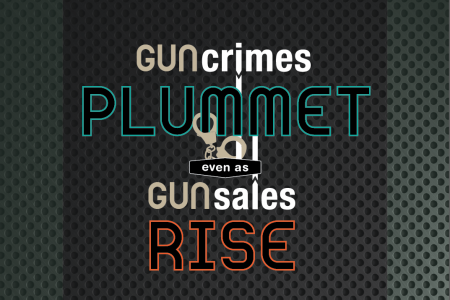 Gun Crimes Plummet As Gun Sales Rise Infographic