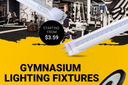 Gymnasium Lighting Fixtures Are Use For attractive Look Infographic