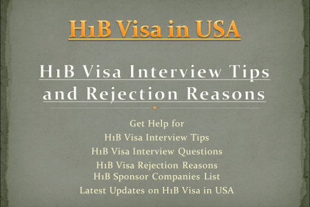 H1B Visa Interview Questions & Interview Tips Infographic